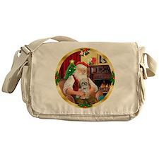Santa's Shih Tzu (Paddy) Messenger Bag