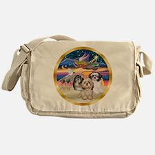 XmasStar/3 Shih Tzus Messenger Bag