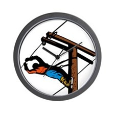 power lineman repairman Wall Clock