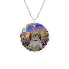 Guardian - Shih Tzu (P) Necklace Circle Charm