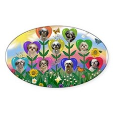 Shih Tzu Heart Garden Decal