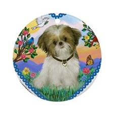Shih Tzu in my heart (P) Ornament (Round)