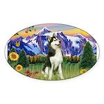 Mt Country & Husky Sticker (Oval)