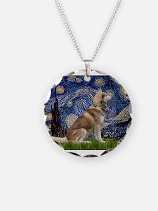 Starry Night & Husky Necklace