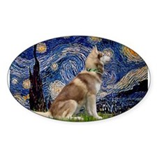 Starry Night & Husky Decal