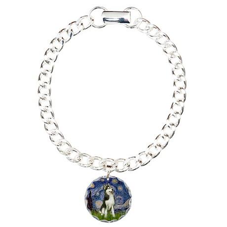 Starry Night & Husky Charm Bracelet, One Charm
