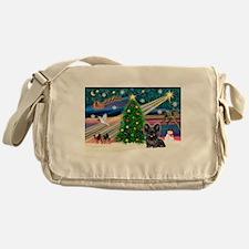Xmas Magic & Skye Terrie Messenger Bag