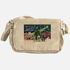 Xmas Magic & Skye Trio Messenger Bag