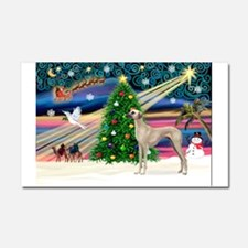 Xmas Magic & Sloughi Car Magnet 20 x 12