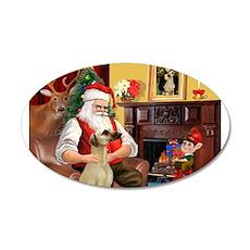 Santa's Sloughi 22x14 Oval Wall Peel