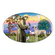 Saint Francis & Sloughi Decal