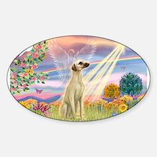 Cloud Angel & Sloughi Sticker (Oval)