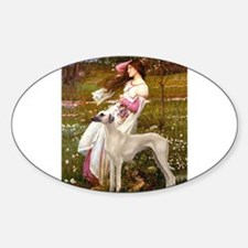 Wind Flowers & Sloughi Sticker (Oval)