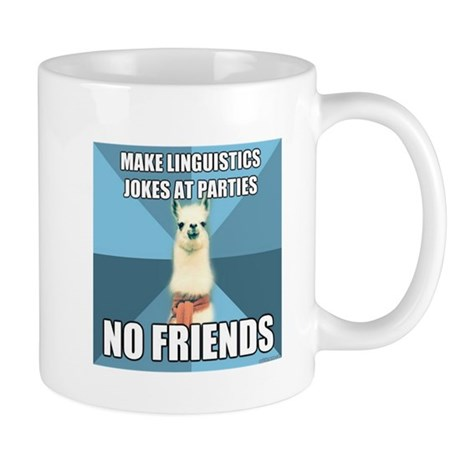 No Friends Mug