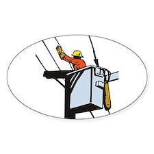 power lineman repairman Decal