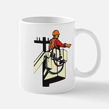 power lineman repairman Mug