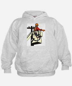 power lineman repairman Hoodie