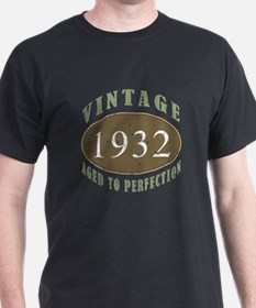 Vintage 1932 Aged To Perfection T-Shirt