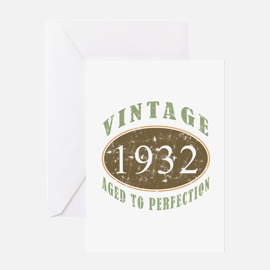 Vintage 1932 Aged To Perfection Greeting Card