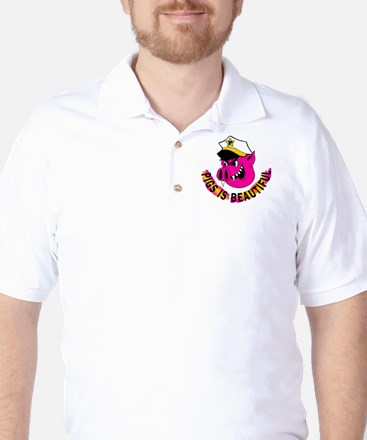 Pigs is Beautiful Golf Shirt