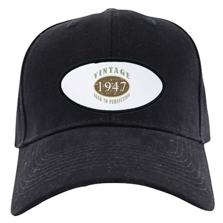Vintage 1947 Aged To Perfection Black Cap