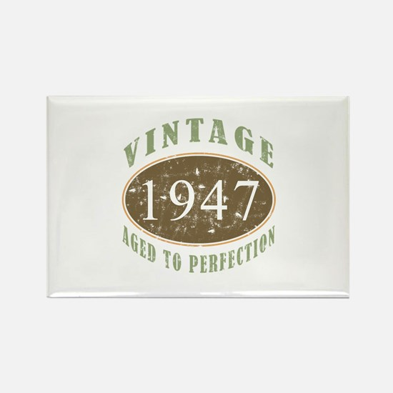 Vintage 1947 Aged To Perfection Rectangle Magnet