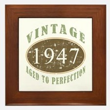 Vintage 1947 Aged To Perfection Framed Tile