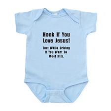 Jesus Texting Infant Bodysuit