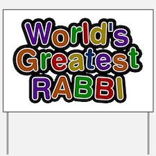World's Greatest RABBI Yard Sign
