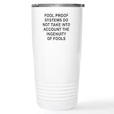Ingenuity of Fools Thermos Mug