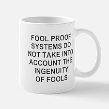 Ingenuity of Fools Small Mugs