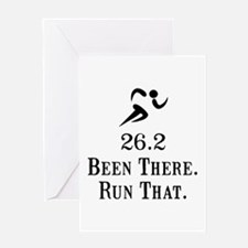 26.2 Been There Run That Greeting Card