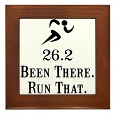 26.2 Been There Run That Framed Tile