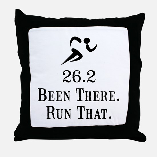 26.2 Been There Run That Throw Pillow