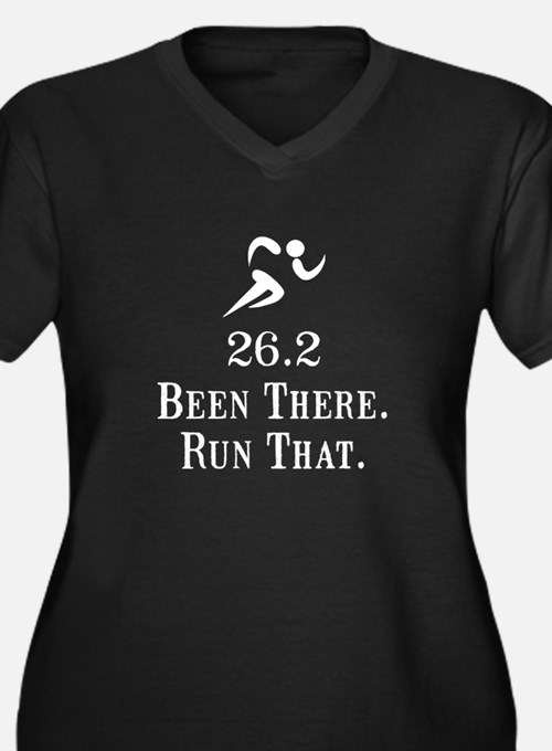 26.2 Been There Run That Women's Plus Size V-Neck