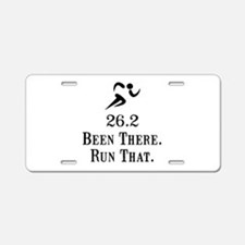 26.2 Been There Run That Aluminum License Plate
