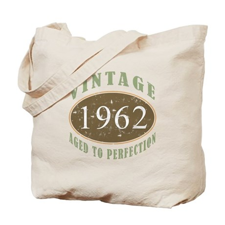 Vintage 1962 Aged To Perfection Tote Bag