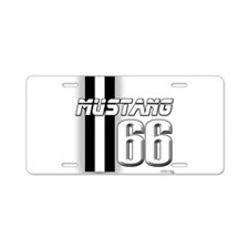 Mustang 66 Aluminum License Plate