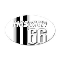 Mustang 66 38.5 x 24.5 Oval Wall Peel