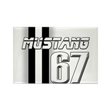 Mustang 67 Rectangle Magnet