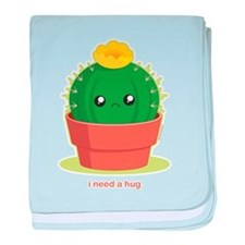 Lonely Cactus baby blanket