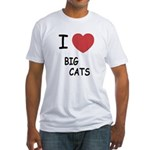 I heart big cats Fitted T-Shirt