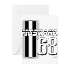 Mustang 68 Greeting Cards (Pk of 10)
