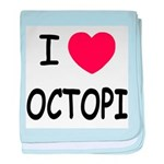 I heart octopi baby blanket