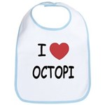 I heart octopi Bib