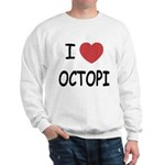 I heart octopi Sweatshirt