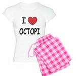 I heart octopi Women's Light Pajamas