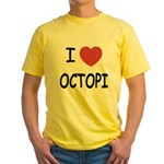 I heart octopi Yellow T-Shirt