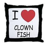 I heart clownfish Throw Pillow