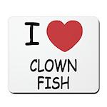 I heart clownfish Mousepad